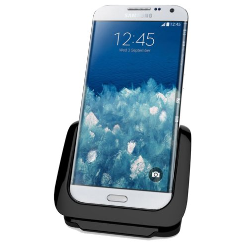 RND Dock for Samsung Galaxy S6 and S6 Edge with USB port (compatible with or without a slim-fit case) (black)