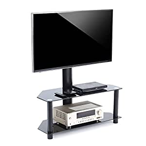 tavr tv stand with swivel mount and height adjustable bracket for 32 to 55 inch lcd. Black Bedroom Furniture Sets. Home Design Ideas