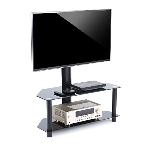 TAVR TV Stand with Swivel Mount and Height adjustable Bracke