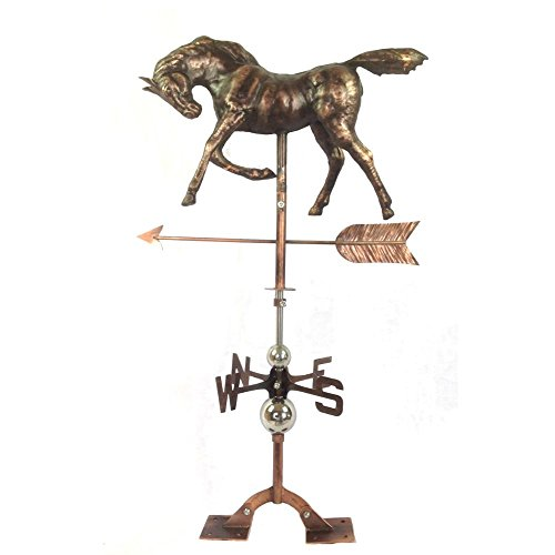 [The Urban Port C215-123108 Antique Antiqued Copper Horse Weathervane Urban Port] (Animal Weathervanes)
