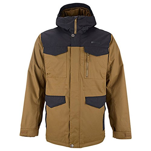 Burton Men's MB Covert Jacket Hickory/True Black Outerwear SM