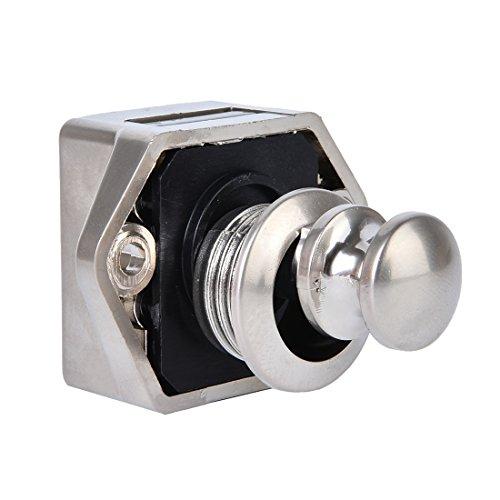 BONA ABS Mini Nickel Push Button Catch Lock RV/Caravan/Boat/Motor Home/Cupboard Knob Lock,15-27mm Of Thickness (Pearl Nickel) Bono Button
