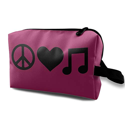 Aaron Music Posters - Aaron Hendricks Skincare Portable Peace Love Music Handbag Makeup Travel Kit with Zipper for Women Skincare Cosmetic Pouch