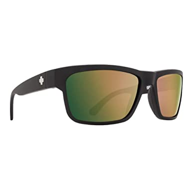 170458d23a5 Image Unavailable. Image not available for. Color  Spy Optic Frazier Wrap Polarized  Sunglasses (Soft Matte Black - Happy Rose Polar w