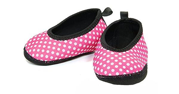 Amazon.com: nufoot bebé ballet Flats, 6-12 meses, rosado con ...