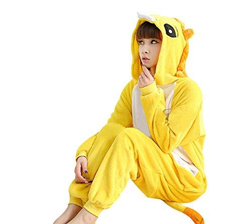[Mojessy Unisex-adult Kigurumi Onesie Pajamas Cartoon Sleepwear Costumes] (Woman Lioness Costume)