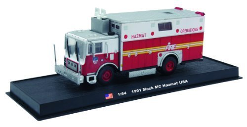 Mack MC Hazmat Fire Truck Diecast 1:64 Model (Amercom GB-12)
