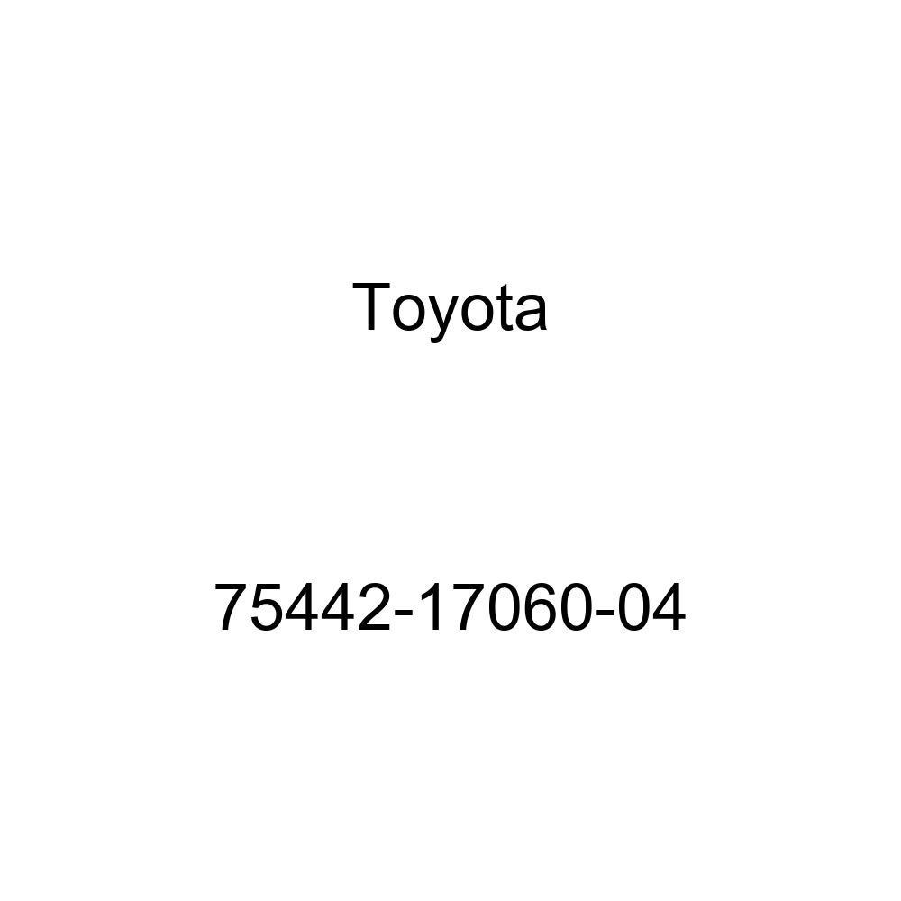 TOYOTA 75442-17060-04 Luggage Compartment Door Name Plate