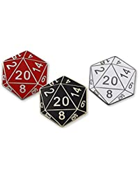 20 Sided Die Tabletop Games Hard Enamel Lapel Pin