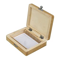 Microscope Slide Wooden Box Holding 25 Piece Slides