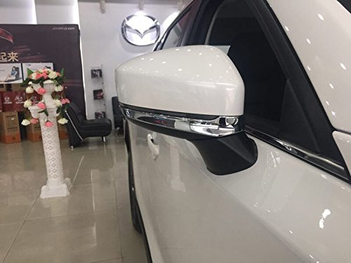 Beautost Fit For Mazda 2017 2018 2019 CX-5 CX5 Chrome Rear view Mirror Side Molding Cover Trims