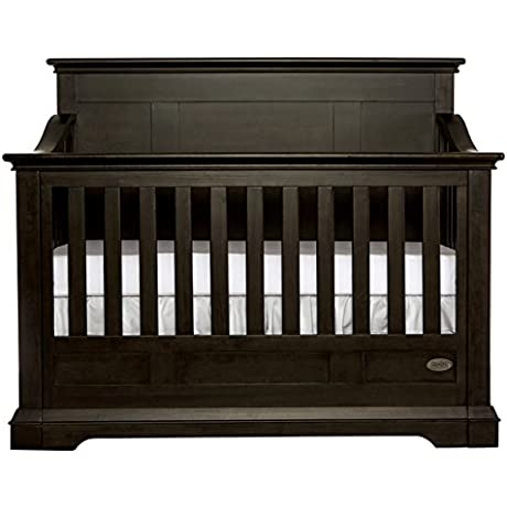 Evolur Parker Black Wood 5 In 1 Convertible Crib 842 ST