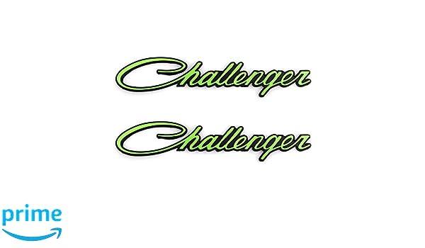 3D Badges Decal Replacement for Chrysler Mopar Challenger 2Pcs Challenger Nameplate Emblems Chrome black