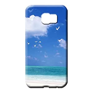 samsung galaxy s6 Nice Hot Style New Arrival phone carrying covers sky blue air white cloud