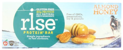 Rise Bar Gluten-Free, High-Protein Bars, Almond Honey, 12-Count