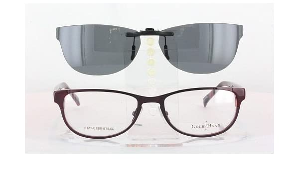 ff947a2c80 Amazon.com  COLE HAAN CH1010-51X17 POLARIZED CLIP-ON SUNGLASSES (Frame NOT  Included)  Health   Personal Care