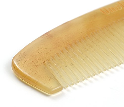 OneDor Handmade 100% Premium Quality Natural Sheep Horn Anti-Static Hair Comb Without Handle by Onedor (Image #1)