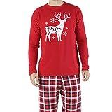 SANFASHION Family Sleepwear Suit Man Woman Baby Wapiti Christmas Pajamas Set Sleeve Long