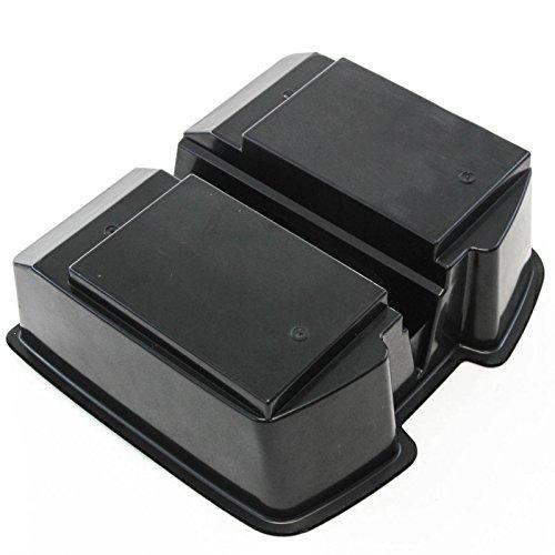 Premium Black Center Front Floor Console Organizer For