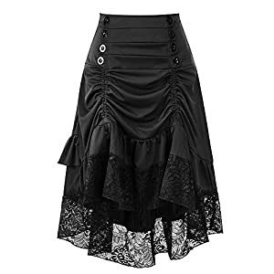 Greatgiftlist Steampunk Gothic Victorian High Low Skirt Bustle Style Sexy Prom Dresses