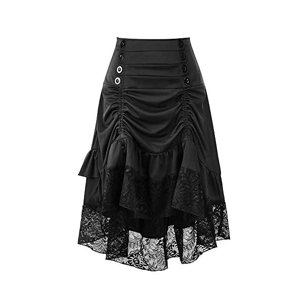 Greatgiftlist Steampunk Gothic Victorian High Low Skirt Bustle Style Sexy Prom Dresses 3