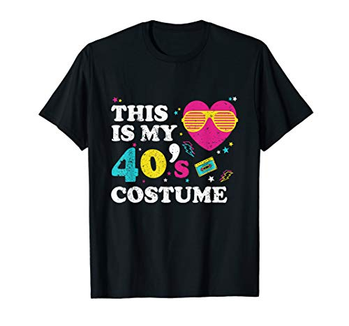 Retro This Is My 40's Costume Halloween 1940s Birthday Gift ()