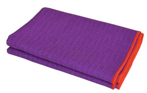 'Equanimity Pro Yoga Towel Mat, lila, 100% Silicone Mat with 100% Premium Microfiber Towel, extra long Mat Größe 72
