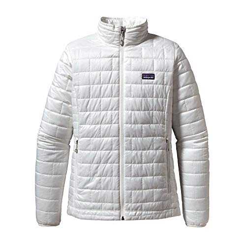 Patagonia Women's Nano Puff Insulated Jacket (Large, Birch White)