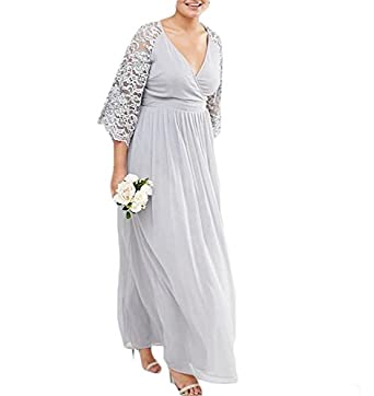 Mre Homme V Neck Chiffon Mother Of The Bride Dresses Plus Size At