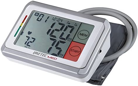 IMETEC MED BP1 200 - Tensiómetro de brazo, numeración grande, pantalla táctil, color blanco y gris