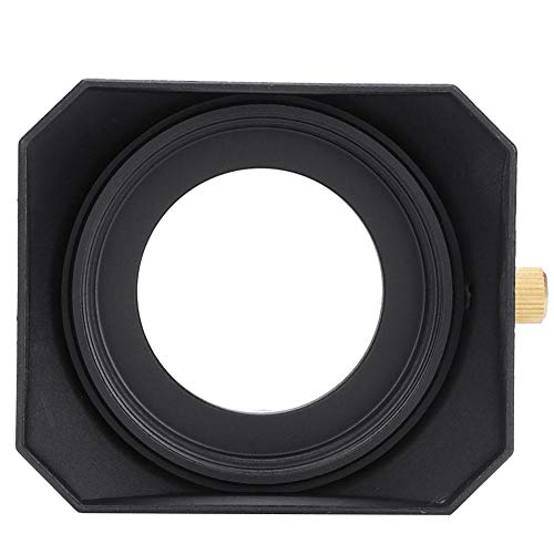 Acouto Portable Square Lens Hood, Square Metal Cover Cap Shade Accessory for DV Camcorder Digital Video Camera Lens Filter ()