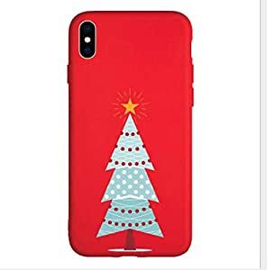 Embossed New Year apple Christmas phone case frosted soft case iphone X/XS protective case iphone X/XS Christmas phone case