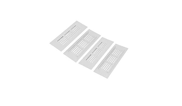 eDealMax Armario gabinete 150mmx50mmx9mm 4pcs aleación de aluminio Salida de aire Rejilla de ventilación - - Amazon.com