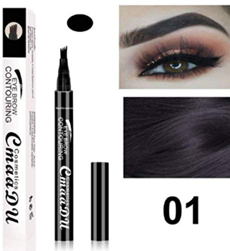 Eyebrow Tattoo Pen- Waterproof Microblading Eyebrow Pencil with a Micro-Fork Tip Applicator Creates Natural Looking Brows Effortlessly -