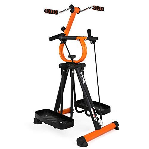 JFGUOYA Folding Air Walk Trainer Fitness Exercise Elliptical Machine Stepper Glider for Gym Home Office - Adjustable Resistance Fitness Rehab Equipment - Pedal Exerciser for Seniors, Elderly