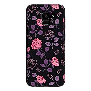 Cover It Up - Roses Print Black Galaxy A8 Plus Hard Case