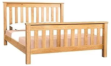 best service 843dc eb724 Devon Solid Oak 5' Slatted King Size Bed Frame/Oak King Size ...