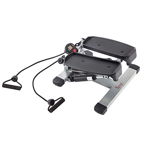 Sunny Health & Fitness Twist Stepper with Resistance Bands - NO. 045