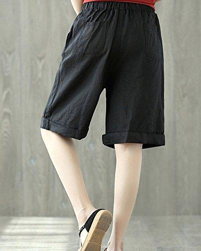 Pantalons Pantalon Sarouel Occasionnels Noir Femme Été Court Missmao Style wPOYqTwx
