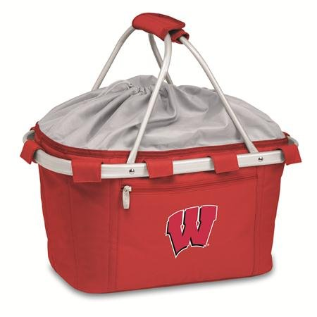 - PICNIC TIME 645-00-100-642-0 University of Wisconsin Embroidered Metro Picnic Basket, Red