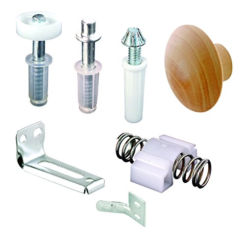 "Prime-Line N 7283 Bi-Fold Door Repair Kit – For 7/8""-Wide Track and 3/8"" Outside Diameter Pivots and Guides–Includes All Parts Needed to Repair One 2-Panel Set of Wood or Metal ()"