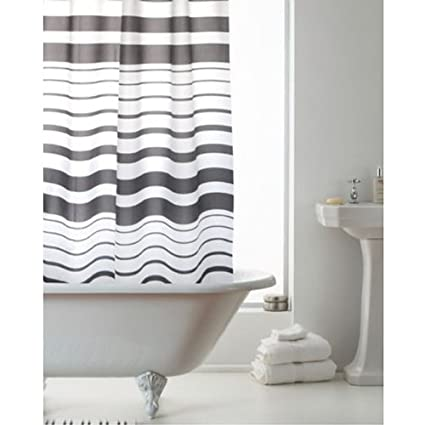 Charcoal Grey Shower Curtain Amazoncouk Kitchen Home