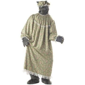 [Wolf Granny Adult Costume Size One Size] (Big Bad Wolf Costume Granny)