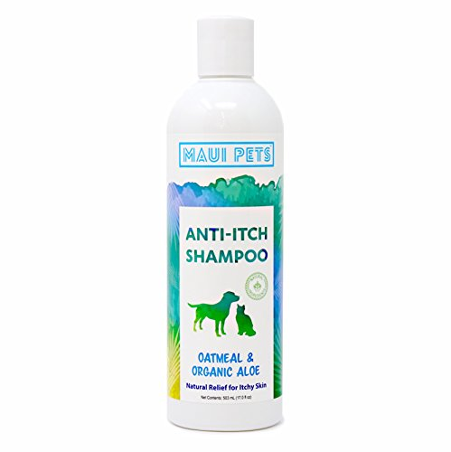 Natural Oatmeal Shampoo for Dogs & Cats | Organic Aloe for Soothes and Relieves Dry & Itchy Skin | Perfect for Hotspots, Rashes & Allergies | 100% Hypoallergenic - Sensitive Skin Formula
