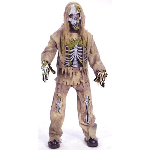 Fun World Skeleton Zombie Costume, Large 12-14,
