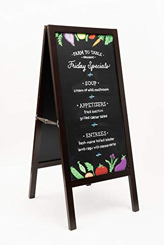 5 Star North TwoSided Mahogany Finish Large Heavy Duty AFrame Indoor/Outdoor Magnetic Chalkboard Show Your customers Friends and The World What#039s on Your menu Agenda or on Your Mind