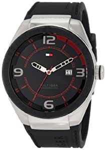 Tommy Hilfiger  Men's 1790807 Sport Black Silicon and Stainless Steel Watch