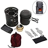 Trekking Fuel Cook Stove Set, 1 Pcs Lightweight Trail Cooking Set Camp Solid Alcohol Burner Backpacking Cookset Fuel Tablets for Hiking, Camping, Trekking, Camping Gear