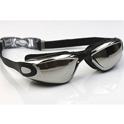 YOUDirect(TM) Newest Adjustable Colorful Adult Waterproof Electroplating Anti-fogging Anti UV Protection Swimming Dive Glasses Eyeglasses Eyecup Eyewear Swimming Goggles For Men Women Unisex (Black)