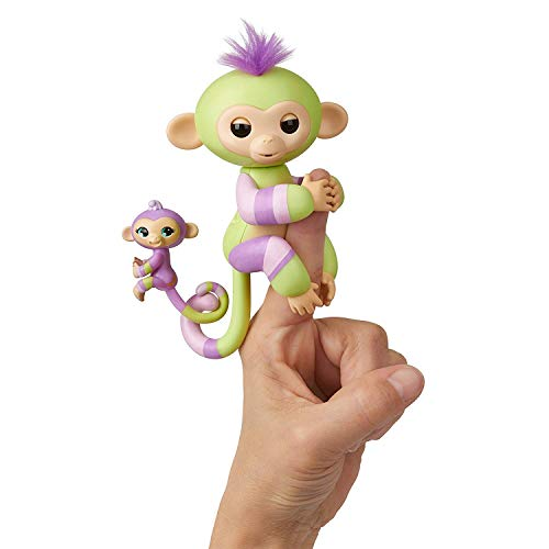 (WowWee Fingerlings - Baby Monkey & Mini BFFs - Jess & Eden Playset)